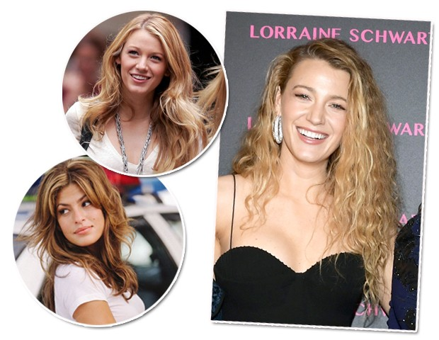 O cabelo de Serena van der Woodsen foi inspirado na personagem de Eva Mendes em + Velozes + Furiosos/ Blake com ondas estilo anos 80 (Foto: Reprodução/Getty Images)