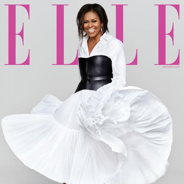 Michelle Obama posa para a capa da revista americana Elle (Foto: Reprodução/Instagram)
