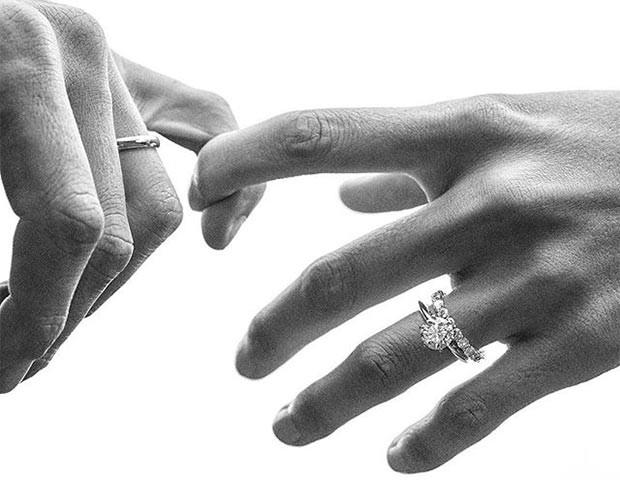 O anel de noivado moissanite é uma opção para quem quer economizar (Foto: Instagram / Tiffany & Co)