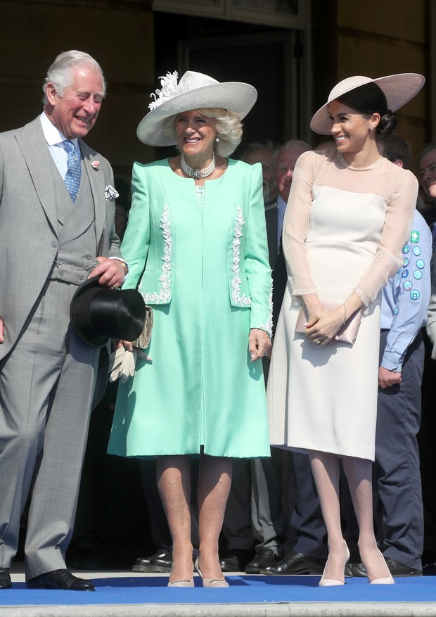 Príncipe Charles, Camilla e Meghan Markle (Foto: Getty Images)