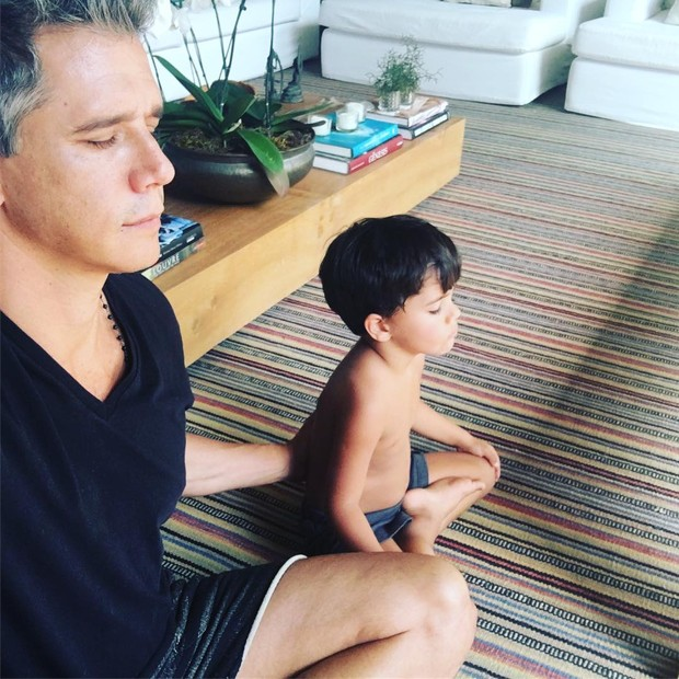 Marcio Garcia e filho João (Foto: Reprodução/Instagram)