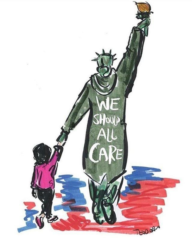 Personalidades pelo mundo se posicionaram contra o gesto da primeira-dama, como o cartunista americano Justin Teodoro (Foto: Justin Teodoro/Reprodução/Instagram)