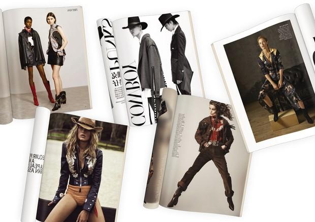 Acima: Vogue Inglaterra, China e México. Abaixo, Vogue Paris (Foto: Divulgação)